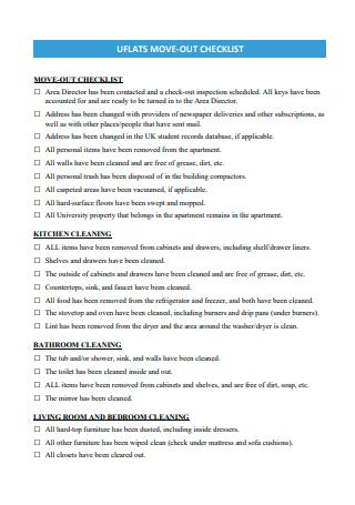 Move Out Checklist in PDF