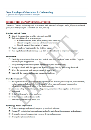 New Employee Orientation and Onboarding Checklist1