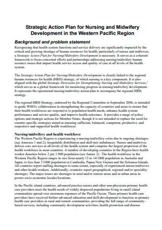 Nursing Strategic Action Plan