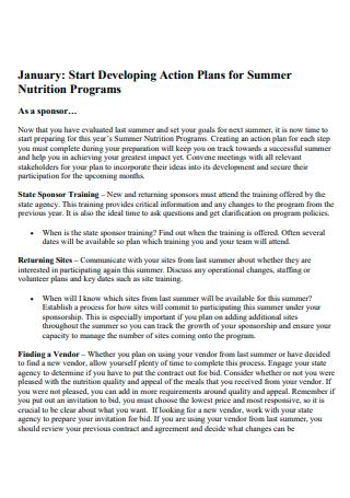 Nutrition Programs Action Plan