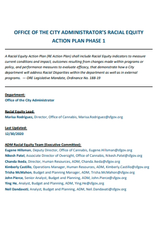 Office of Administrator Racial Equity Action Plan