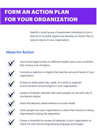 Organization Action Plan Form