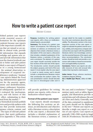 Patient Case Report