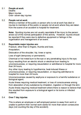 People at Work Accident Report