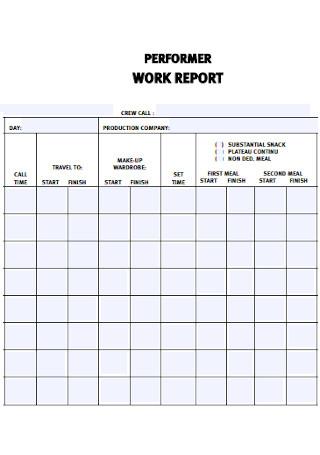 Performer Work Report