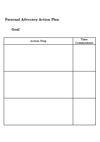 Personal Goal Action Plan Template