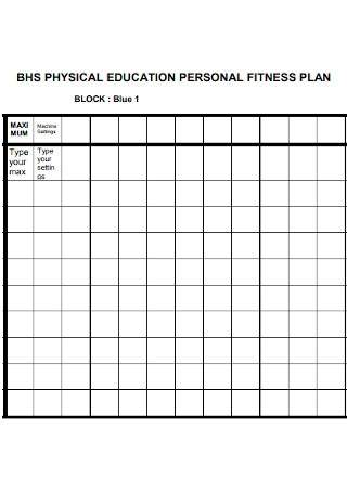 Physical Educatational Fitness Plan