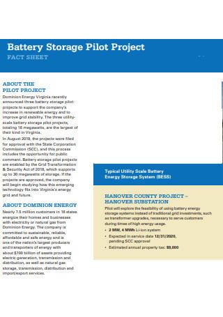 Pilot Project Fact Sheet