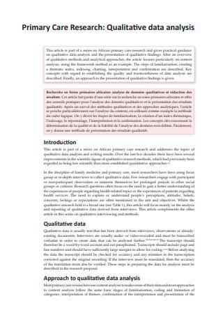 Primary Research Qualitative Data Analysis