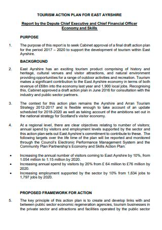 Printable Tourism Action Plan