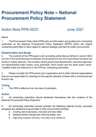 Procurement Policy Statement