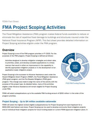 Project Activities Fact Sheet