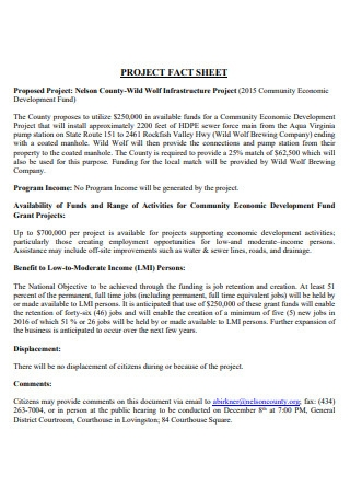 Project Fact Sheet in PDF