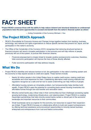 Project Reach Approach Fact Sheet