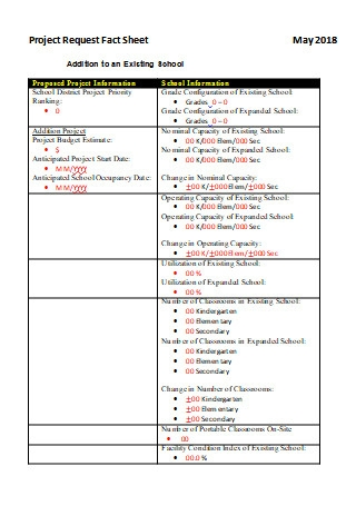 Project Request Fact Sheet
