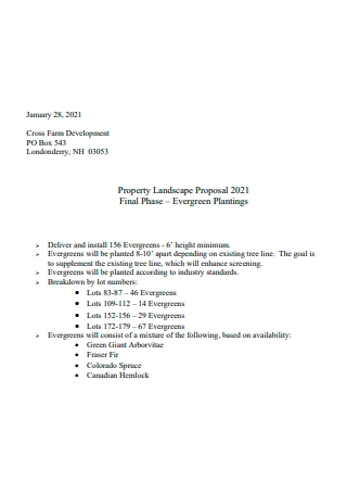 Property Landscape Proposal