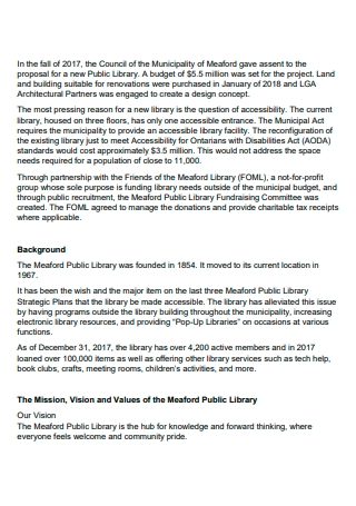 Public Library Fundraising Action Plan