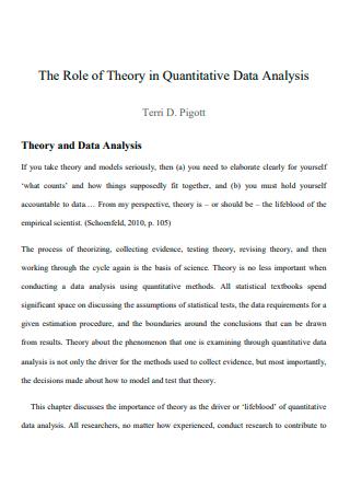 Quantitative Data Analysis Template