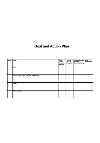 Sample Goal Action Plan