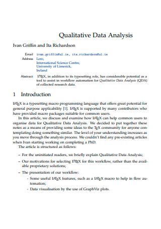 Simple Qualitative Data Analysis
