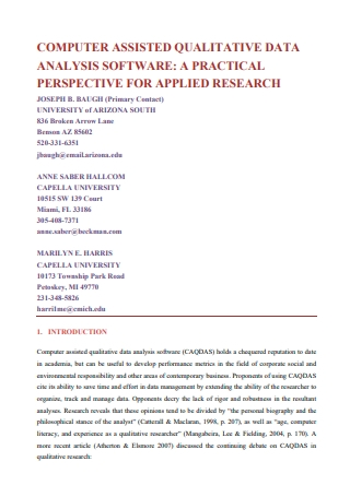 Software Qualitative Data Analysis