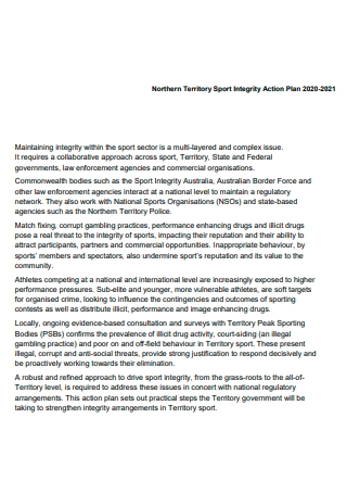 Sports Integrity Action Plan