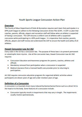 Sports League Action Plan