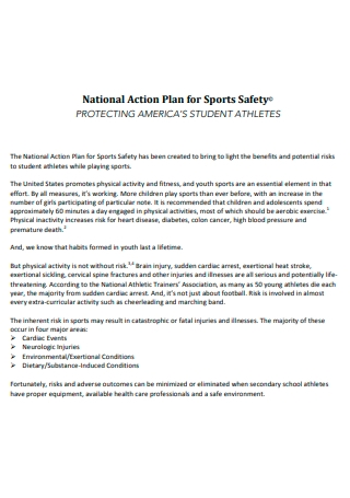 Sports Safety National Action Plan