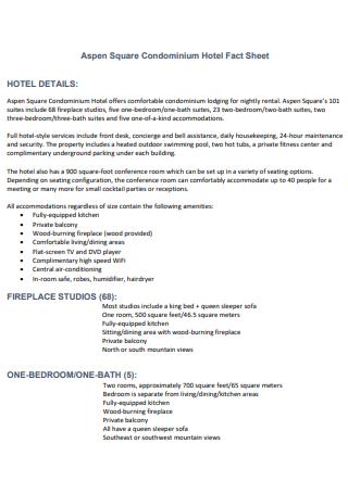 Square Hotel Fact Sheet