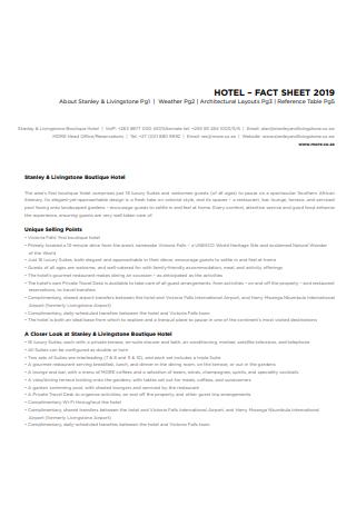 Standard Hotel Fact Sheet