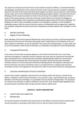 Standard Organization Action Plan