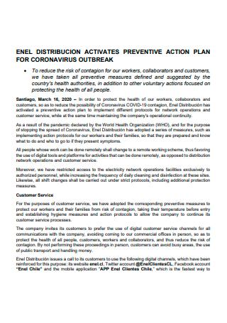 Standard Preventive Action Plan