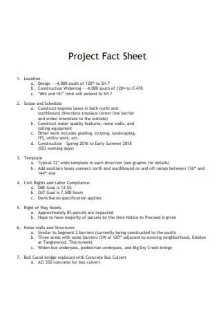 Standard Project Fact Sheet