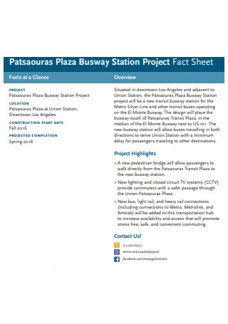 Station Project Fact Sheet