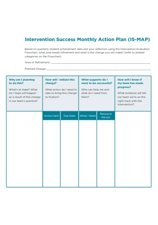 Success Monthly Action Plan