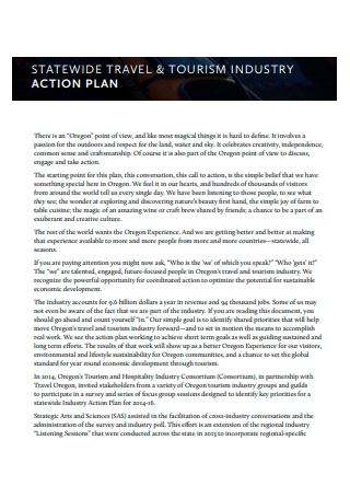 Travel and Tourism Industry Action Plan