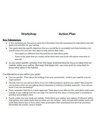 Workshop Action Plan Template