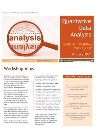 Workshop Qualitative Data Analysis