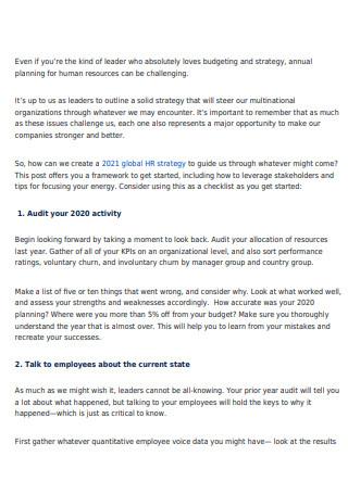 7 Steps for HR Business Plan