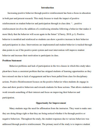 Action Research Proposal Report