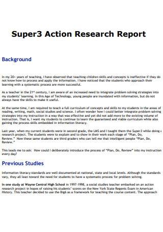 Action Research Study Report