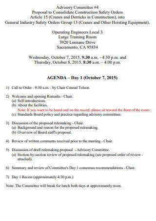 Advisory Commitee Article proposal