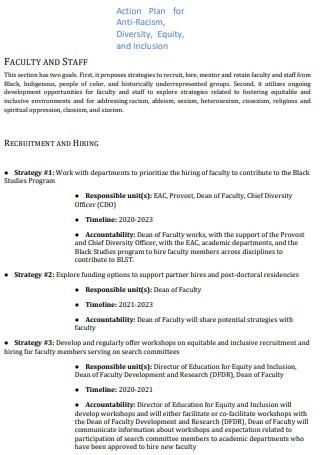 Anti Racism Diversity Action Plan