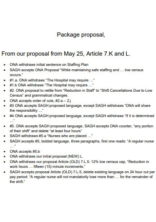 Article 7 Package Proposal