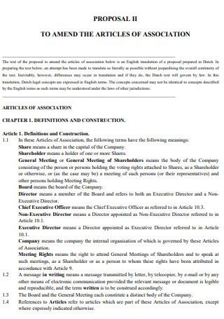 Article Association Proposal 2