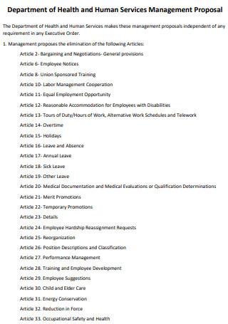 Article Management Proposal