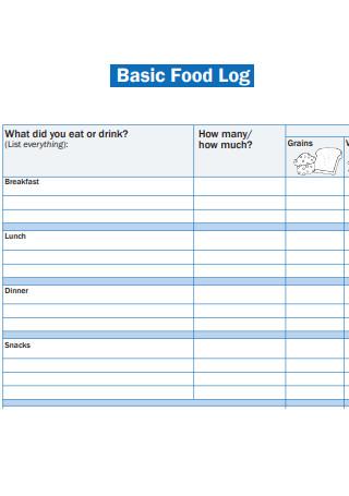Basic Food Log