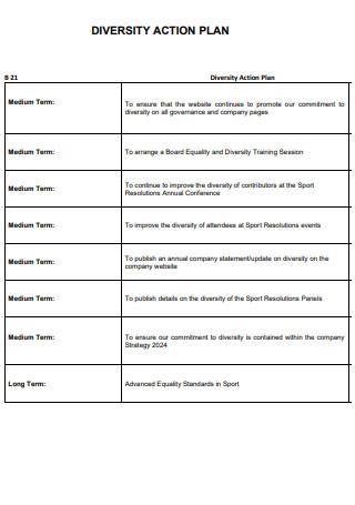 Board Diversity Action Plan