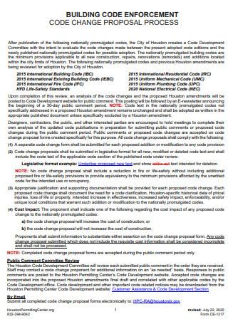 Building Code Enforcement Proposal