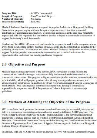 Building Construction Expansion Proposal